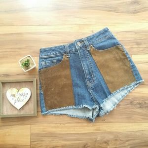 BDG High Rise Cheeky with Faux Suede Pockets Sz 25